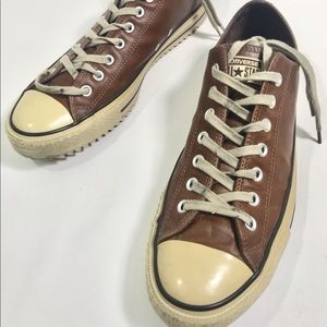 Converse All Star Brown Low Sneakers 11 Leather
